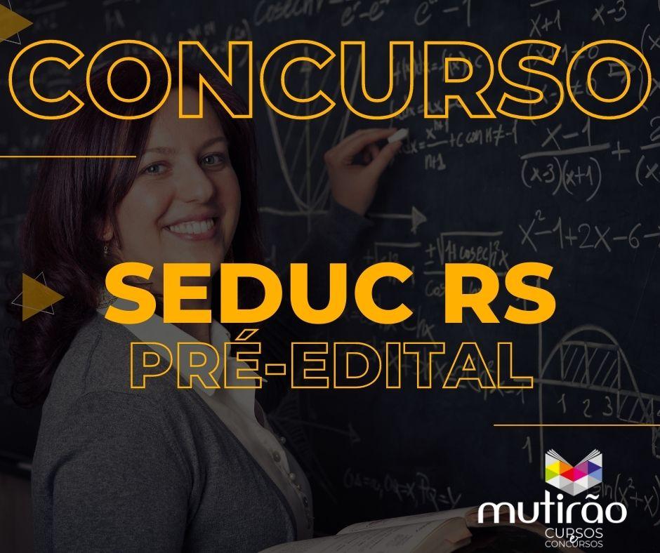 Pré Edital SEDUC RS - Aulas Gravadas